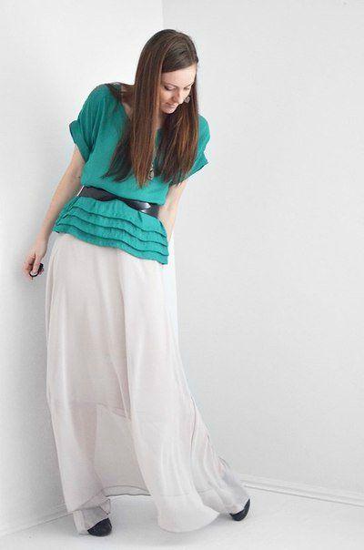 Свободная  летняя юбка. Выкройка