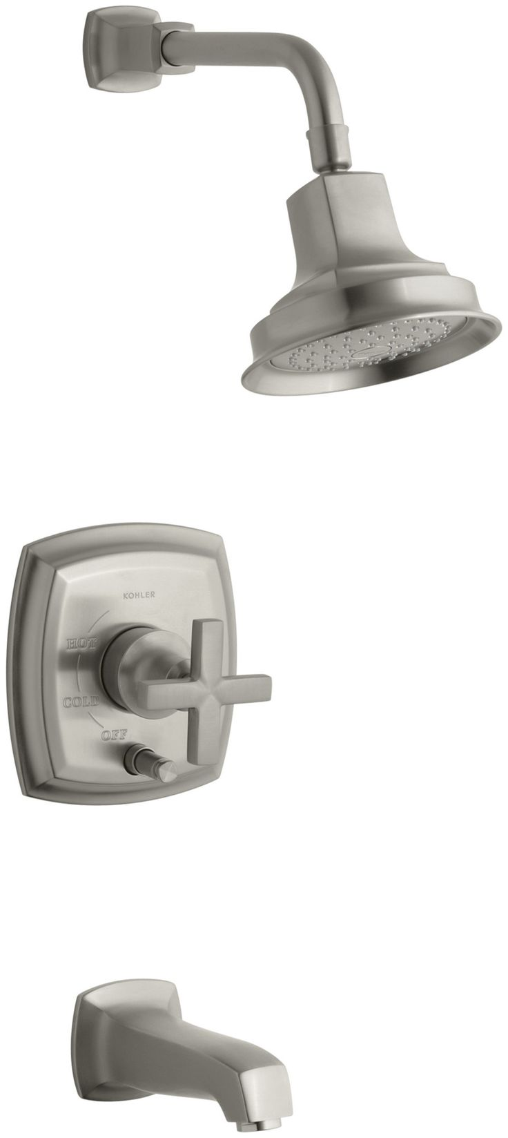 Margaux Rite Temp Pressure Balancing Bath And Shower Faucet Trim With Push Button Diverter And