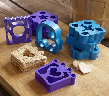 These sandwich cutters are so cute. $14.00 at Pottery Barn Kids