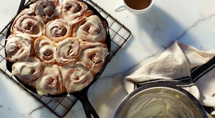 Check out this delicious recipe for Iced Cinnamon Rolls  from Weber—the world's number one authority in grilling.