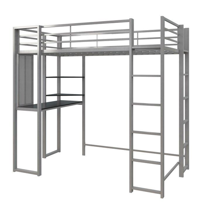 Aime Loft Bed With Bookcase Loft Bed Twin Loft Bed Loft Bed Frame