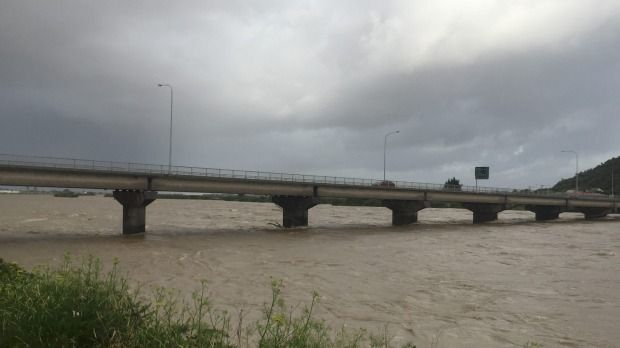 Extremely heavy rain has seen the Grey River on the West Coast rise high.