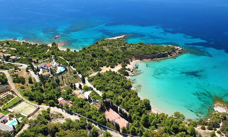 Truly magnificent and grandiose, this is a unique property that defies simple description. A jewel of a Villa in the prestigious Costa of Porto Heli, it consists of three buildings spreading over 11.000 square meters of magnificent gardens with pathways.