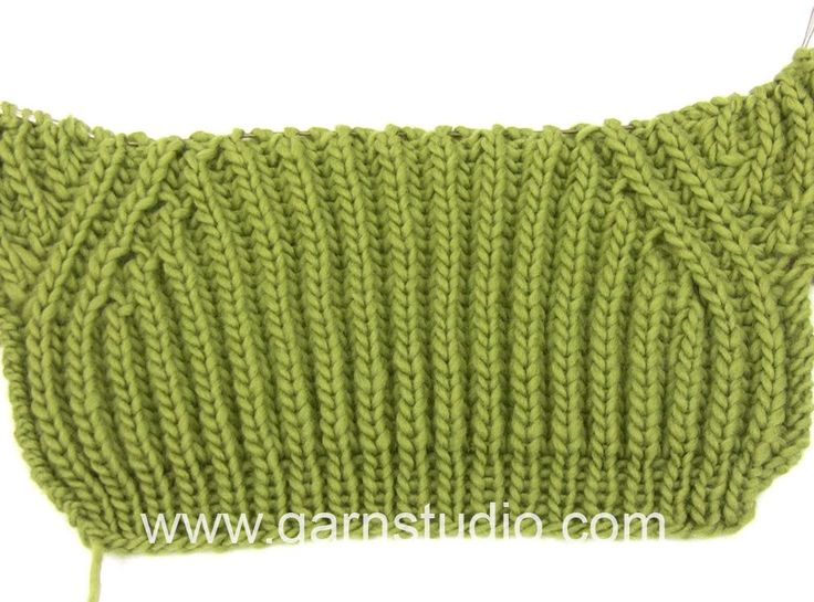 DROPS Knitting Tutorial: How to work false raglan