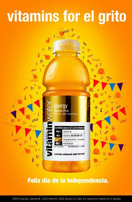 Vitamin Water / posters for El Grito. on Behance