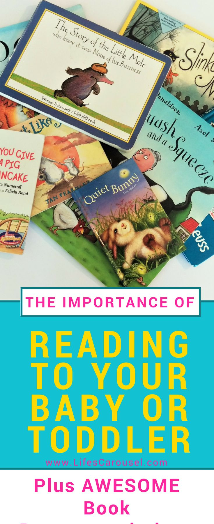 Importance of Reading with Your Toddler and Baby | The ONE thing you can do to help your child have a brighter future! Establish a great reading routine with your toddler or baby. PLUS AWESOME BOOK RECOMMENDATIONS!