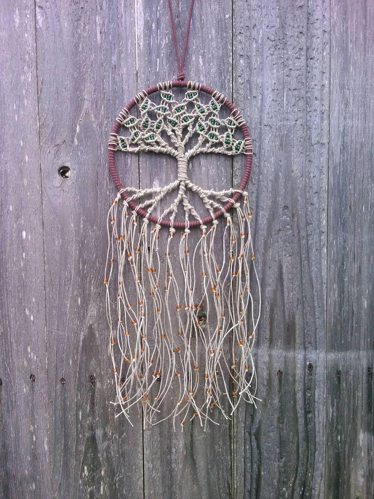 Hemp Tree of Life Dreamcatcher/ Medium / Macrame Wall Hanging / Hoop Art / Gift by Evergreenbohemian on Etsy https://www.etsy.com/listing/192058936/hemp-tree-of-life-dreamcatcher-medium