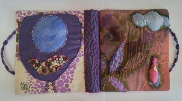 20x25/serpil kapar/textile book bag