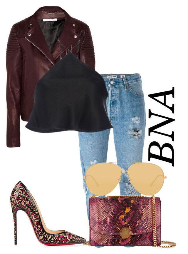 BNA by deborahsauveur on Polyvore featuring polyvore fashion style Brandon Maxwell Givenchy Levi's Christian Louboutin Marc Jacobs Linda Farrow clothing