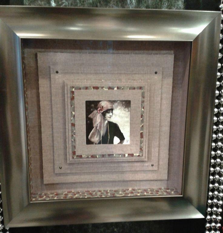 les 699 meilleures images du tableau encadrement cartonnettes d cal es sur pinterest cadres. Black Bedroom Furniture Sets. Home Design Ideas
