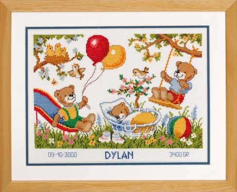 click here to view larger image of Dylan (counted cross stitch kit)
