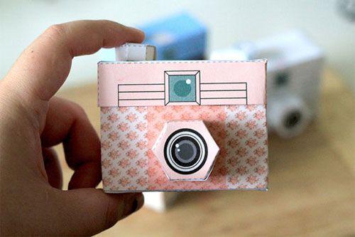 Printable Paper Camera http://poppytalk.blogspot.com/2012/02/new-printable-paper-camera.html #pink #paper #camera #free #printable