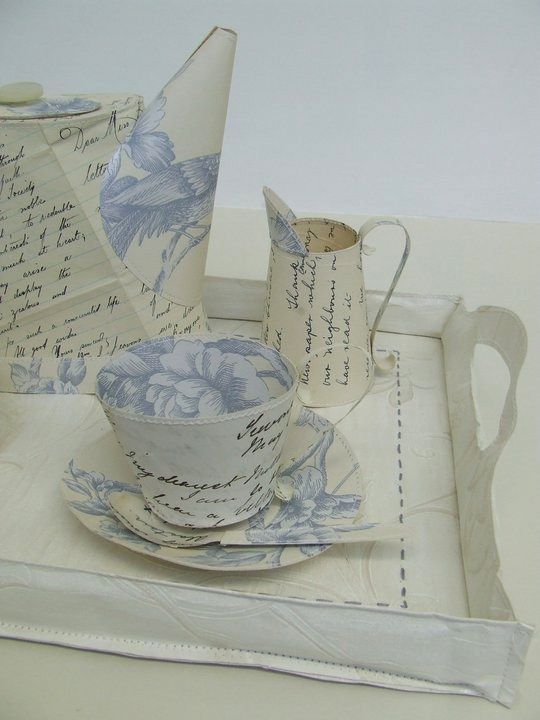 Unit 12 paper tea set -Jennifer Collier