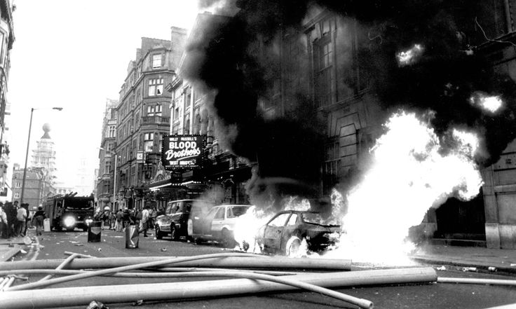 Poll tax riots revisited - in pictures