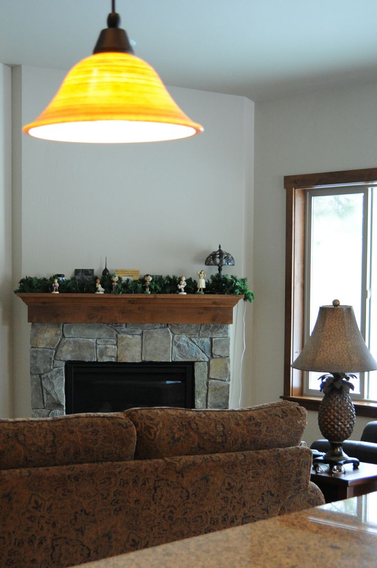 Fireplace in a home we built in the Timber River neighborhood, Post Falls, Idaho