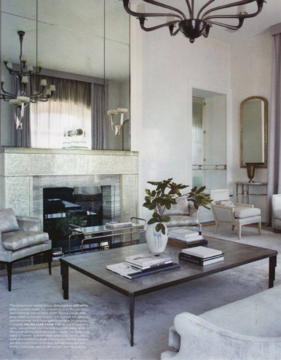Monochromatic color scheme living room