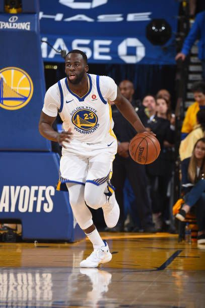 6b2dc98a3d150 Draymond Green of the Golden State Warriors handles the ball against the  San Antonio Spurs in Game One of Round One during the 2018 NBA Playoffs on.