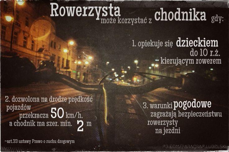 Rowerzysta na chodniku | www.adwokat-sarzynski.pl | Tarnobrzeg ul.Sienkiewicza 55 | 662742432 | Sandomierz | Lublin | Mielec | Stalowa Wola | Nowa Dęba
