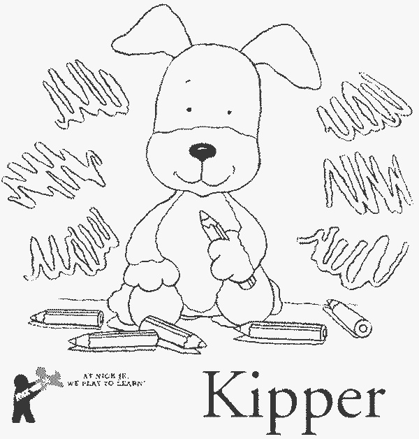 70 best kipper the dog images on pinterest for Kipper the dog coloring pages