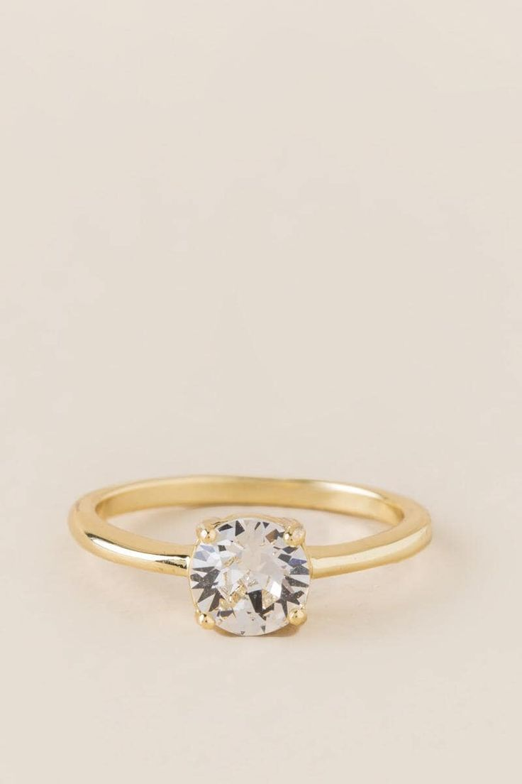 Amelie Swarovski Crystal Ring in Clear