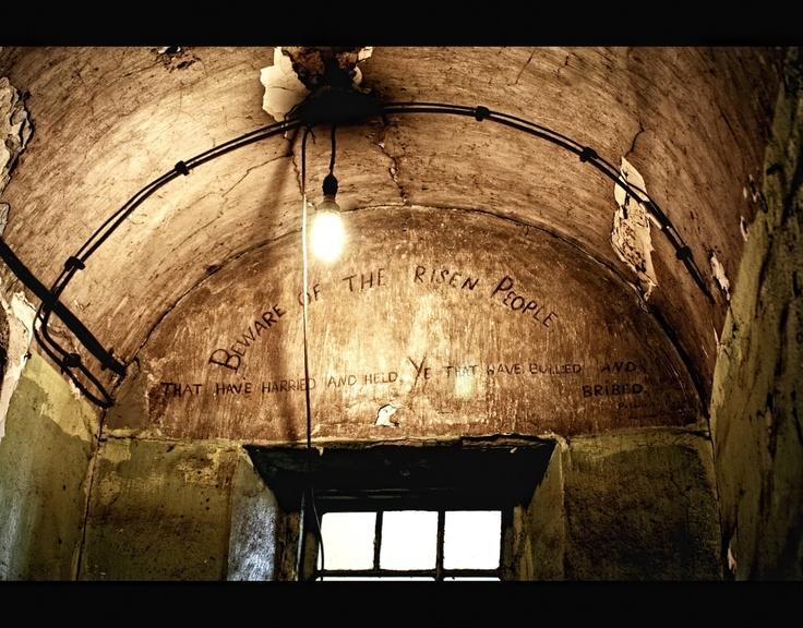 kilmainham jail in ireland! it was very creepy but cool!