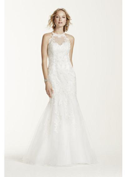 Jewel Petite Lace and Tulle Petite Wedding Dress 7WG3735