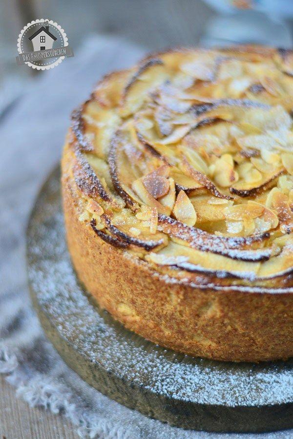 Apfel Mazarin Kuchen - Apple Mazarin Cake | Das Knusperstübchen