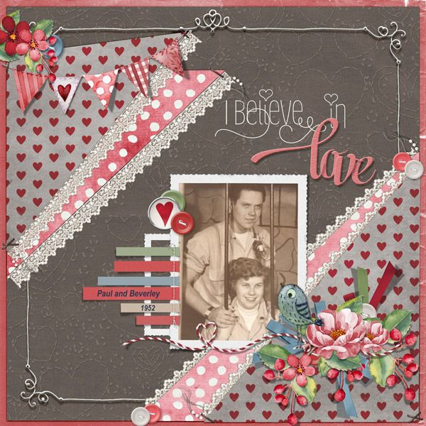 This is for Tbear's February 2017 Scraplift The Spotlight Challenge.  I lifted Victoria At Two by Moog.  I used Love Story Combo by Meryl Bartho.
