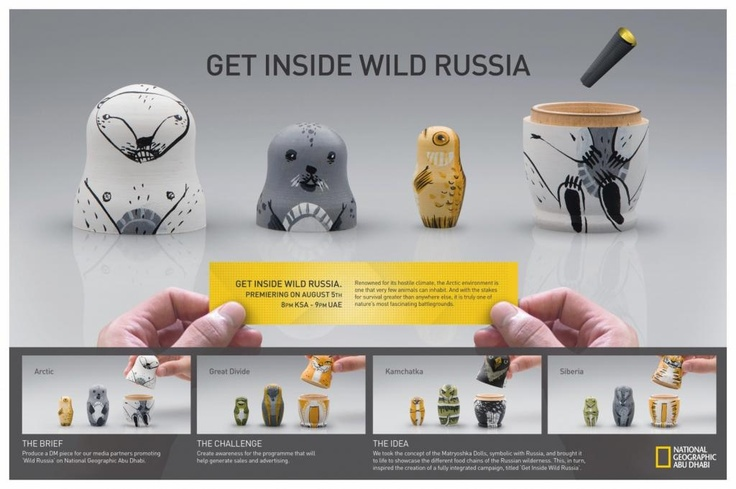 """MATRYOSHKA"" Direct marketing for National Geographic Tv Channel by Leo Burnett Dubai"