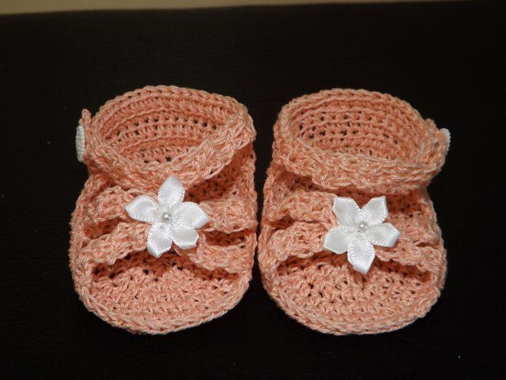 crochet sandalias para bebe