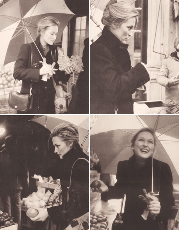 """Meryl at the market.  This should also be tagged under """"future life"""", """"people I love"""", """"who I want to be"""", """"oh my God, gorgeous""""."""