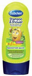 Бюбхен шампунь для волос и тела Ароматная дыня 230мл  — 218р. -- Детский шампунь с запахом дыни и провитамином В5 и протеинами пшеницы превращает купание в настоящее удовольствие.  В данном моющем средстве, предназначенном для детей, использованы только безопасные компоненты, способные оздоровить кожу головы и сделать волосы красивыми и блестящими. Провитамин В5 усиливает кровообращение, предотвращает появление дерматита, способствует нормальному росту волос. Протеины пшеницы интенсивно…