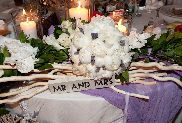 Mr & Mrs table...