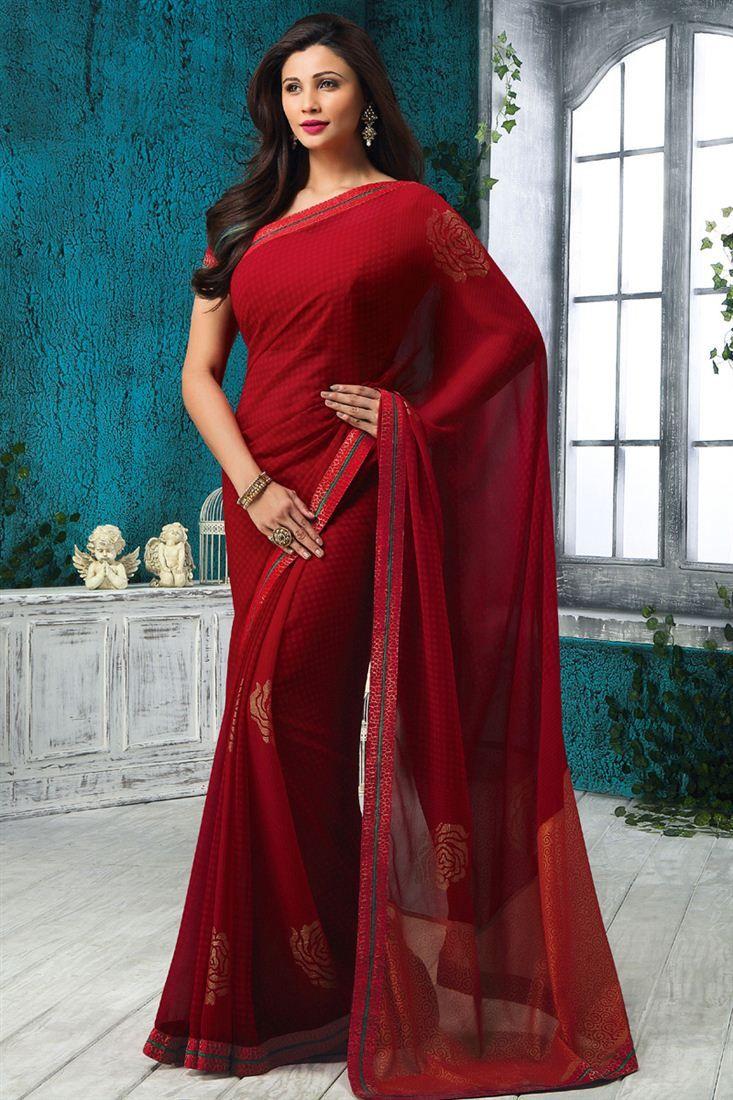 Daisy Shah Party Wear Printed Saree