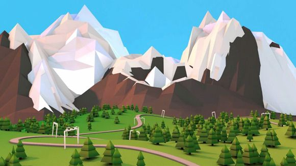cinema 4d creating low poly mountains tutorial cg. Black Bedroom Furniture Sets. Home Design Ideas