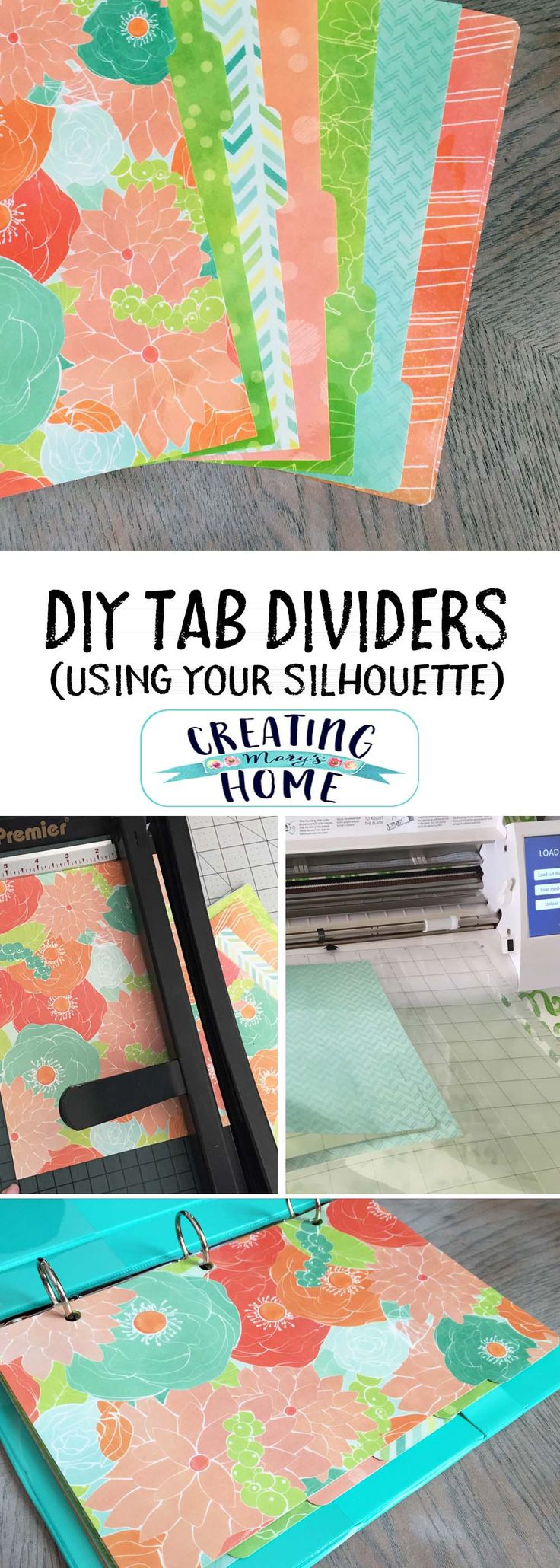 DIY Tab Dividers Tutorial - creatingmaryshome.com