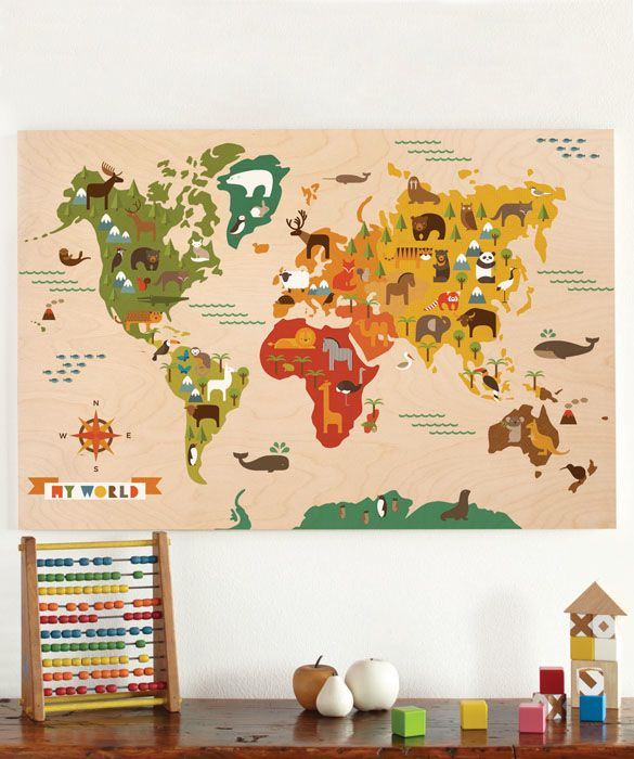 petit collage jumbo wood panel my world petit collage jumbo wood panel my world earth map print picture poster wall