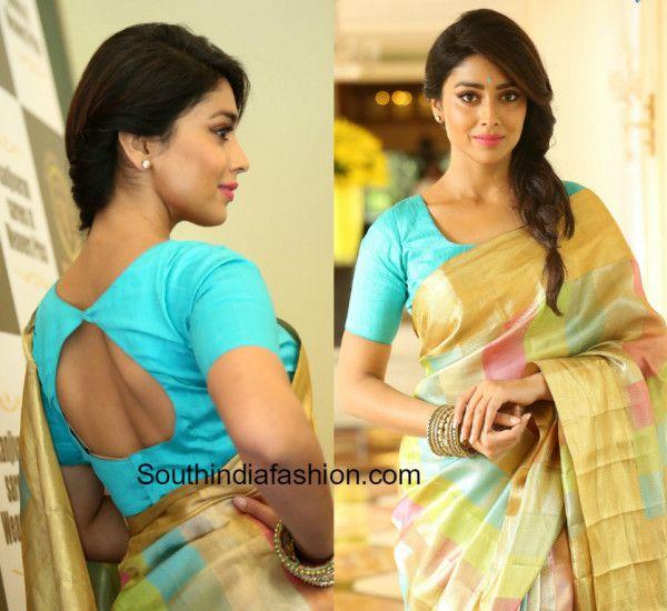 shriya_saran_pattu_saree_blouse