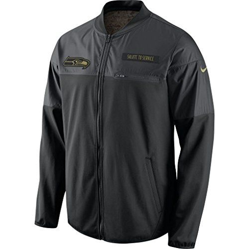 Seattle Seahawks 2016 Nike NFL Salute to Service Mens Hybrid Jacket XL * Click image for more details.