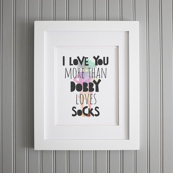 This Harry Potter wall art is a great Valentine's Day gift idea for him.
