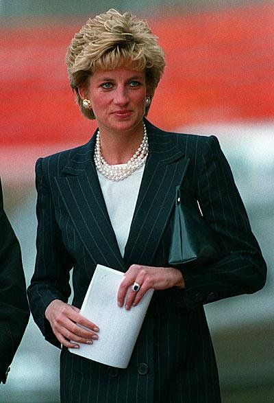 April 6, 1993:  Princess Diana arriving for the Health of the Nation conference, Yorkshire