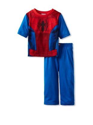 50% OFF Boy's Spiderman Webbed Pajama Set (Blue)