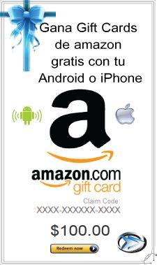 Gana Gift Cards de Amazon GRATIS con Android y iPhone  aquí: http://www.rutatecnologica.com/2014/01/gana-gift-cards-de-amazon-gratis-con.html