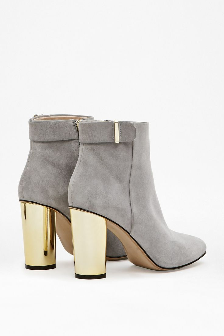 Kristina Suede Metallic Heeled Boots - New Arrivals - French Connection