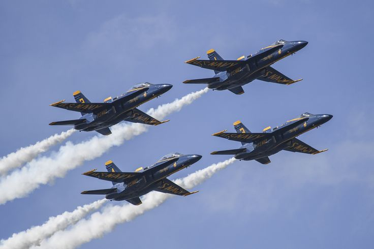 JACKSONVILLE, Fla. (Nov. 5, 2016) F/A-18C Hornets from the U.S. Navy Flight Demonstration Squadron, the Blue Angels, perform an aerial demonstration during the 2016 Sea and Sky Spectacular in Jacksonville Beach. (U.S. Navy photo by Petty Officer 2nd Class Timothy Schumaker/Released)
