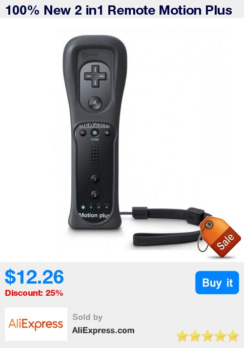 100% New 2 in1 Remote Motion Plus For Wii Remote Controller With Silicone Case and Wrist Strap For Nintendo for wii console Game * Pub Date: 16:54 Aug 14 2017