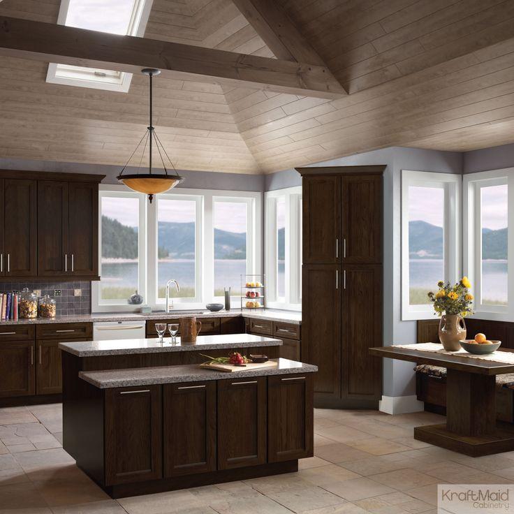 Kitchen Cabinets Kraftmaid: KraftMaid's Saddle Stain Creates A Warm, Inviting