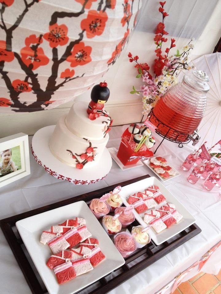Kimono Cookies + Kokeshi Cake = Japan Party