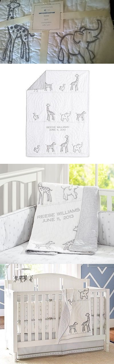 Quilts and Coverlets 180908: New Pottery Barn Kid Animal Reese Crib Quilt Toddler Bed Giraffe Elephant Zebra -> BUY IT NOW ONLY: $74.5 on eBay!