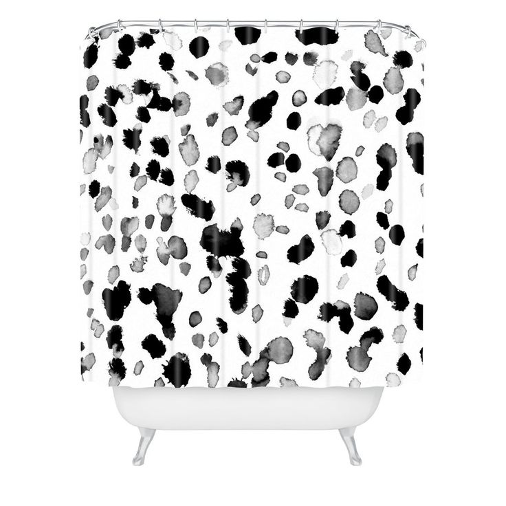 Amy Sia Animal Spot Gray Shower Curtain | DENY Designs Home Accessories